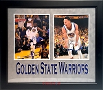 Stephen Curry & Kevin Durant Autographed Golden State Warriors 11x14 Photos Framed