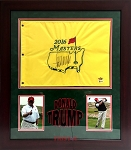 Donald Trump Autographed 2016 Masters Golf Flag with Premium Frame