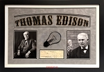 Thomas Edison Autographed Edison Botanic Research Corporation Check Framed