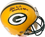 Reggie White Autographed Green Bay Packers Helmet Inscribed Minister of Defense