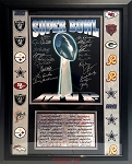 Super Bowl MVPs Autographed Commemorative 16x20 Photo Framed - 20 Signatures