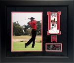 Tiger Woods Autographed 2006 Buick Open Press Pass Custom Framed