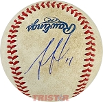 Ozzie Albies Autographed Official MiLB Southern League Baesball