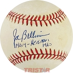 Joe Bellino Autographed Official Major League Baseball Inscribed Navy Heisman 1960