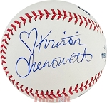 Kristin Chenoworth Autographed Official Major League Baseball Inscribed with Heart