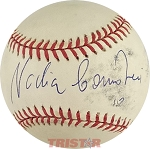 Nadia Comaneci Autographed Official National League Baseball Inscribed 10