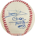 Darryl Dawkins Autographed Official Baseball Inscribed Choc Thunder #53