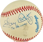 Tony Dorsett Autographed Official American League Baseball Inscribed 76 Heisman
