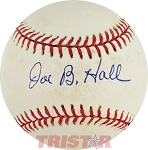 Joe B Hall Autographed Official American League Baseball