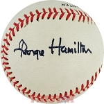 George Hamilton Autographed Official National League Baseball