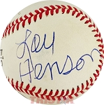 Lou Henson Autographed Official National League Baseball