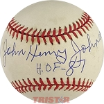 John Henry Johnson Autographed Official American League Baseball Inscribed HOF 87