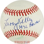 Larry Kelley Autographed Official National League Baseball Inscribed 1936 Heisman