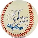 George Lindsey Autographed Official American League Baseball Inscribed Goober