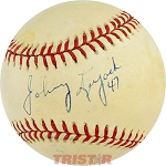Johnny Lujack Autographed Official American League Baseball Inscribed 47
