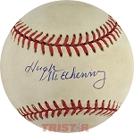 Hugh McElhenny Autographed Official American League Baseball