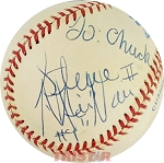 Steve McNair Autographed Official American League Baseball Inscribed To Chuck #9