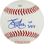 James Paxton Autographed Official Southern League Baseball Inscribed NH 5-8-18 15