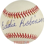 Eddie Robinson Autographed Official National League Baseball
