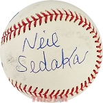 Neil Sedaka Autographed Official Major League Baseball