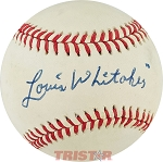 Lou Whitaker Autographed Official American League Baseball Inscribed Louis