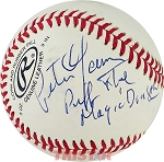 Peter Yarrow Autographed Baseball Inscribed Puff the Magic Dragon