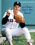 Roger Clemens Autographed Boston Red Sox 8x10 Photo with Rare Inscription