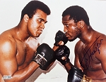 Joe Frazier Autographed Boxing Face Off with Ali 11x14 Photo
