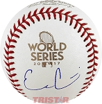 Evan Gattis Autographed 2017 World Series Baseball