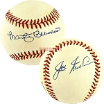 Marty Brennaman & Joe Nuxhall Autographed Official National League Baseball