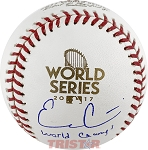 Evan Gattis Autographed 2017 World Series Baseball Inscribed World Champs