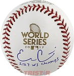 Evan Gattis Autographed 2017 World Series Baseball Inscribed 2017 WS Champs