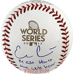 Evan Gattis Autographed 2017 World Series Baseball Inscribed El Oso Blanco, The White Bear