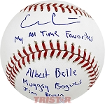 Evan Gattis Autographed Official ML Baseball Inscribed My All Time Favorites