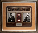 Abraham Lincoln Autographed Cut Signature Custom Framed with Photos