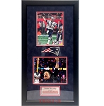 Tom Brady & Bill Belichick Autographed New England Patriots 8x10 Photos Framed