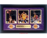 Kareem Abdul-Jabbar, Magic Johnson & James Worthy Autographed Los Angeles Lakers 8x10 Photos