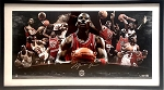 Michael Jordan Autographed Chicago Bulls HOF Commemorative 36x18 Photo Collage LE