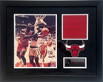 Michael Jordan Autographed Chicago Bulls 11x14 Photo Framed with Floor Piece