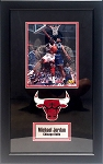 Michael Jordan Autographed Chicago Bulls 8x10 Photo Framed