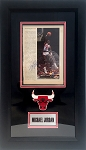 Michael Jordan Autographed Team USA Magazine Page with Chicago Bulls Frame