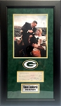 Vince Lombardi Autographed Green Bay Packers Check Framed
