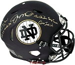 Joe Montana Autographed Notre Dame Full Size Helmet Inscribed Cotton Bowl, Go Irish & More