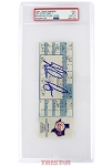 Nolan Ryan Autographed 7th No-Hitter Game Ticket PSA Grade NM 7