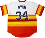 Nolan Ryan Autographed Houston Astros Rainbow Jersey Inscribed Don't Mess With Texas