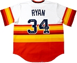 Nolan Ryan Autographed Houston Astros Rainbow Jersey Inscribed 324 Wins, 5714 Ks, 7 No-Hitters
