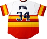 Nolan Ryan Autographed Houston Astros Rainbow Jersey Inscribed K King, HOF 99 & More
