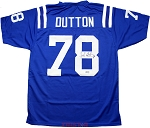 John Dutton Autographed Baltimore Colts Custom Jersey
