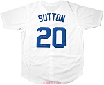 Don Sutton Autographed Los Angeles Dodgers Custom Jersey Inscribed HOF 98