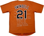 Greg Swindell Autographed Texas Longhorns Custom Jersey with 15 Inscriptions LE of 5